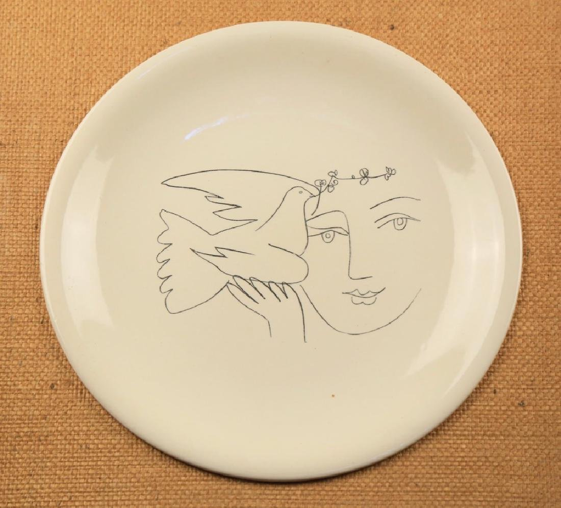 A Picasso Ceramic Charger for Salins, Woman and Dove - 2