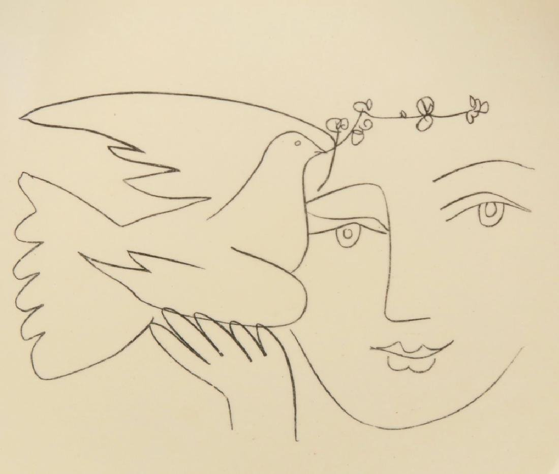 A Picasso Ceramic Charger for Salins, Woman and Dove - 3