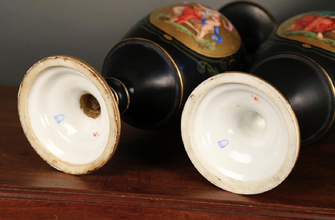 Pair of Vienna Porcelain Vases, c.1900 - 10