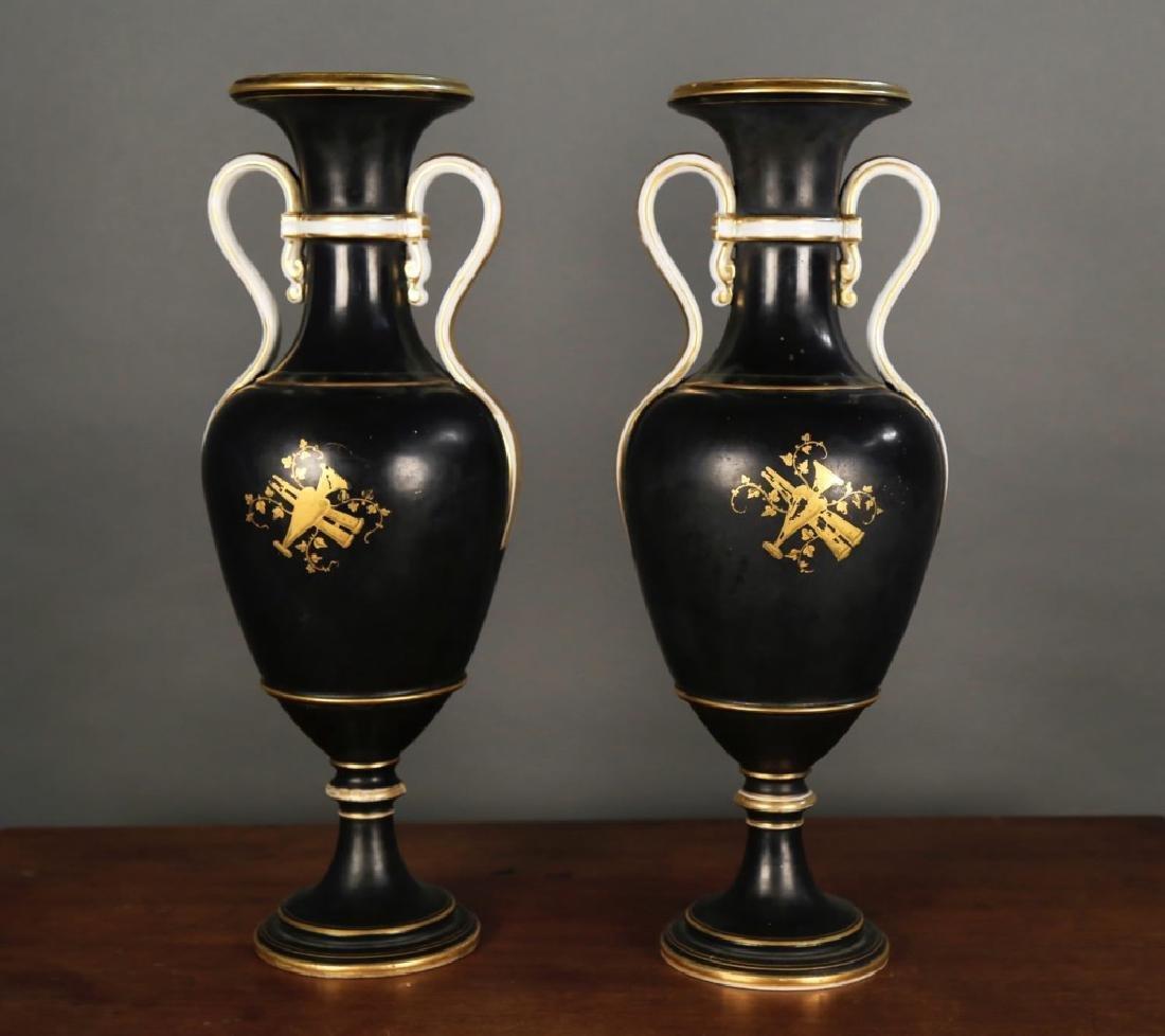 Pair of Vienna Porcelain Vases, c.1900 - 7