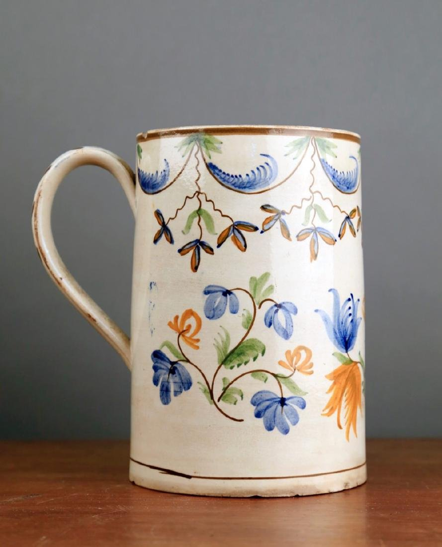 English Creamware Tankard, 18thc.