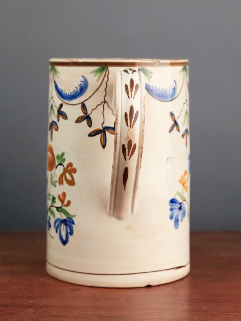 English Creamware Tankard, 18thc. - 2