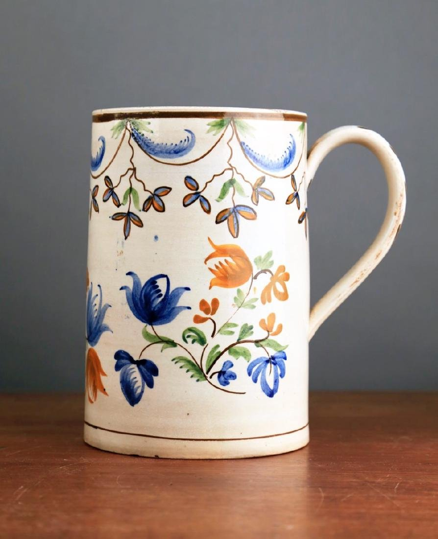 English Creamware Tankard, 18thc. - 3