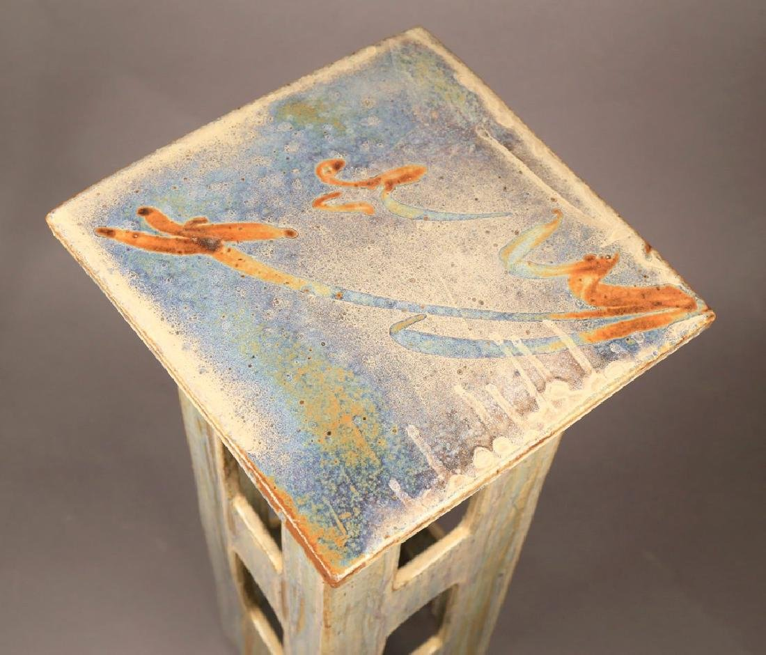 Eric O'Leary (American, 20thc.)  Glazed Ceramic Stand - 3