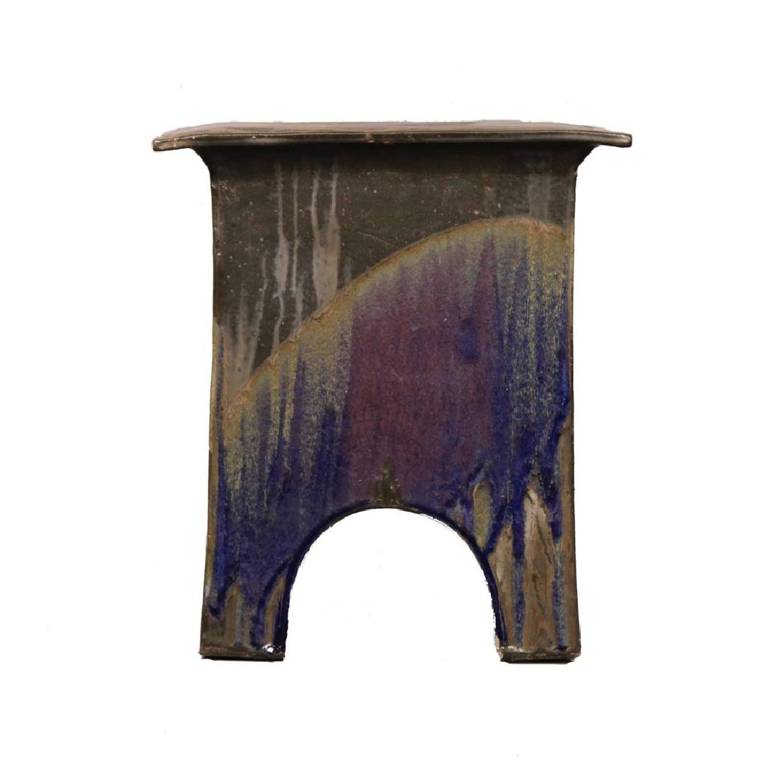Eric O'Leary (American, 20thc.)  Glazed Ceramic Stand