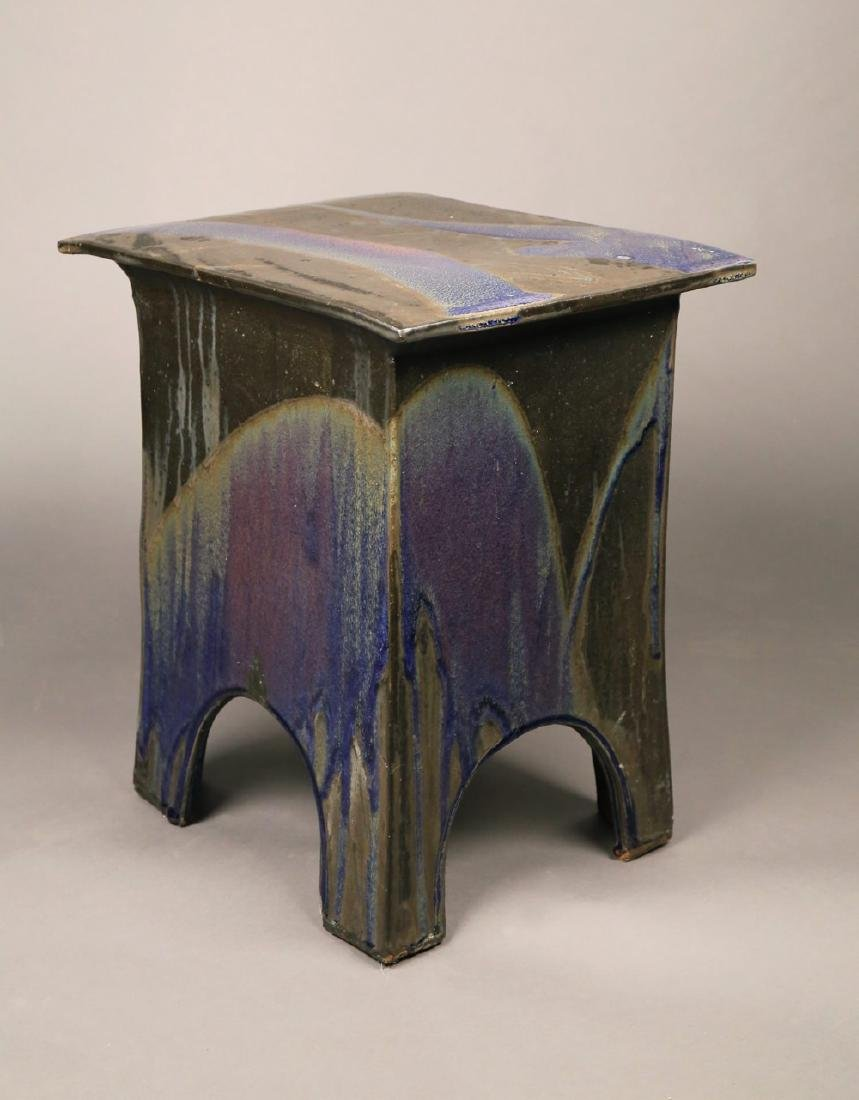 Eric O'Leary (American, 20thc.)  Glazed Ceramic Stand - 2