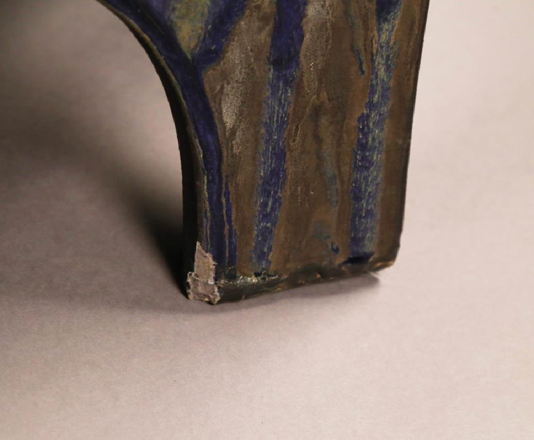Eric O'Leary (American, 20thc.)  Glazed Ceramic Stand - 5