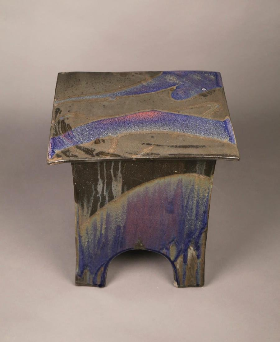 Eric O'Leary (American, 20thc.)  Glazed Ceramic Stand - 6