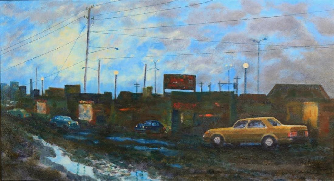 William A. Van Duzer (American 1917 - 2005) Parking Lot