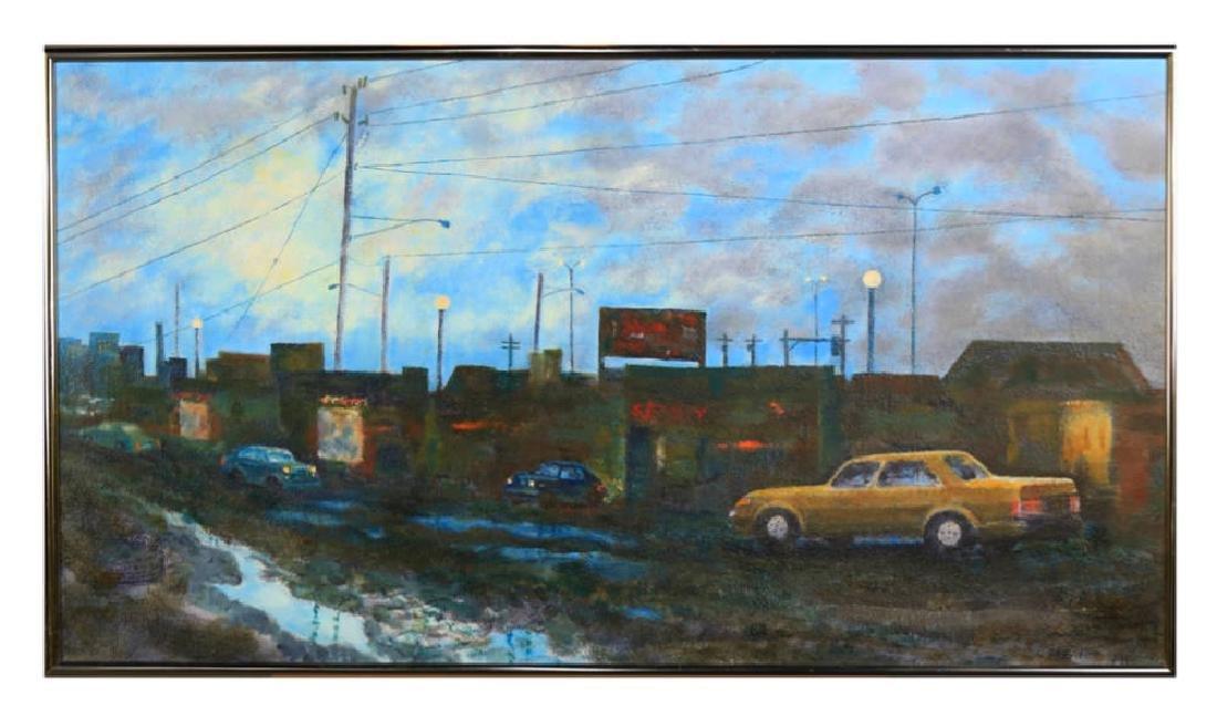 William A. Van Duzer (American 1917 - 2005) Parking Lot - 2