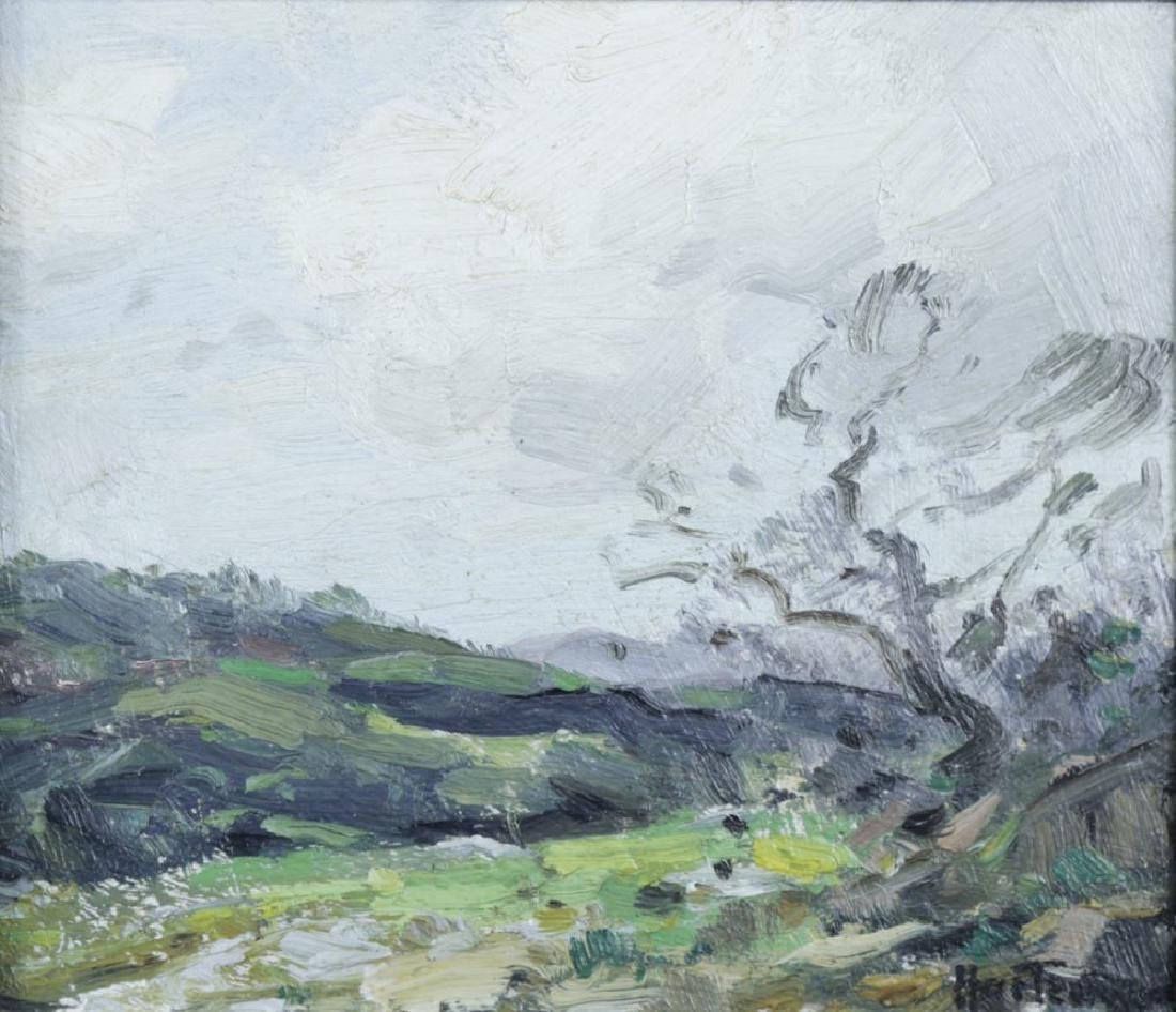 20thc. American School, Landscape Over an Open Field