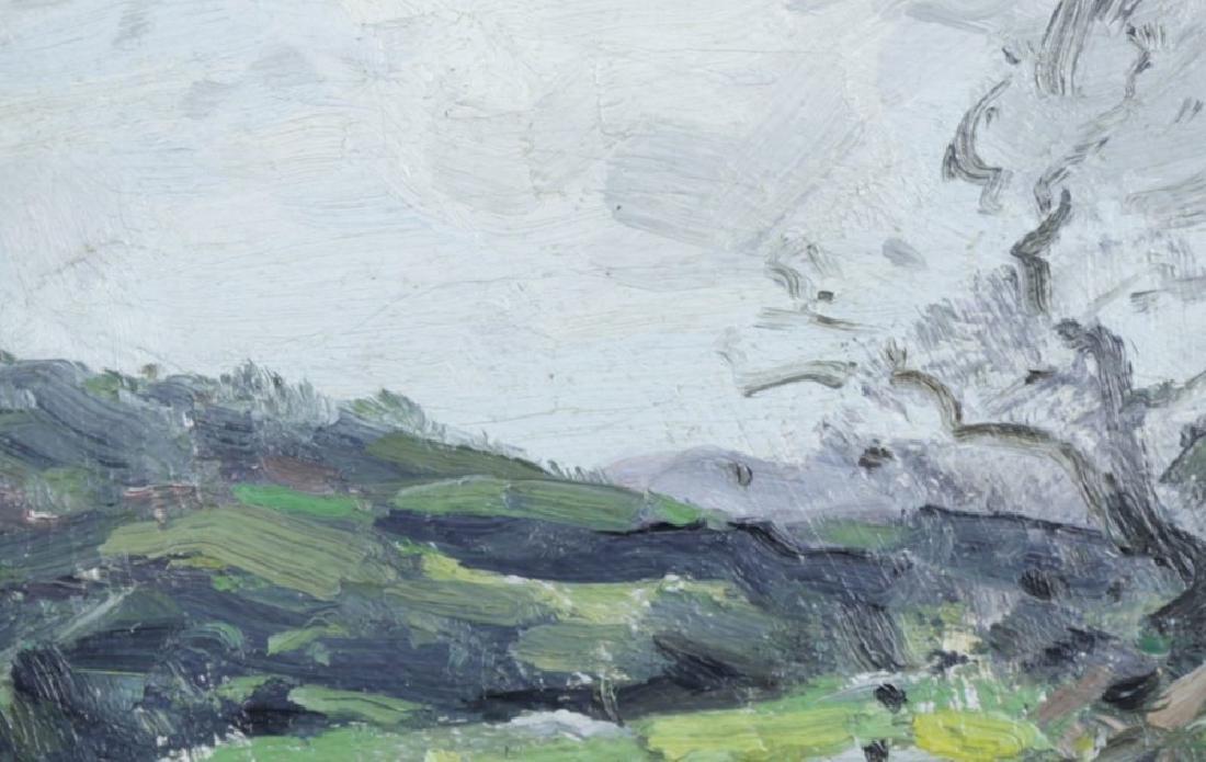 20thc. American School, Landscape Over an Open Field - 3