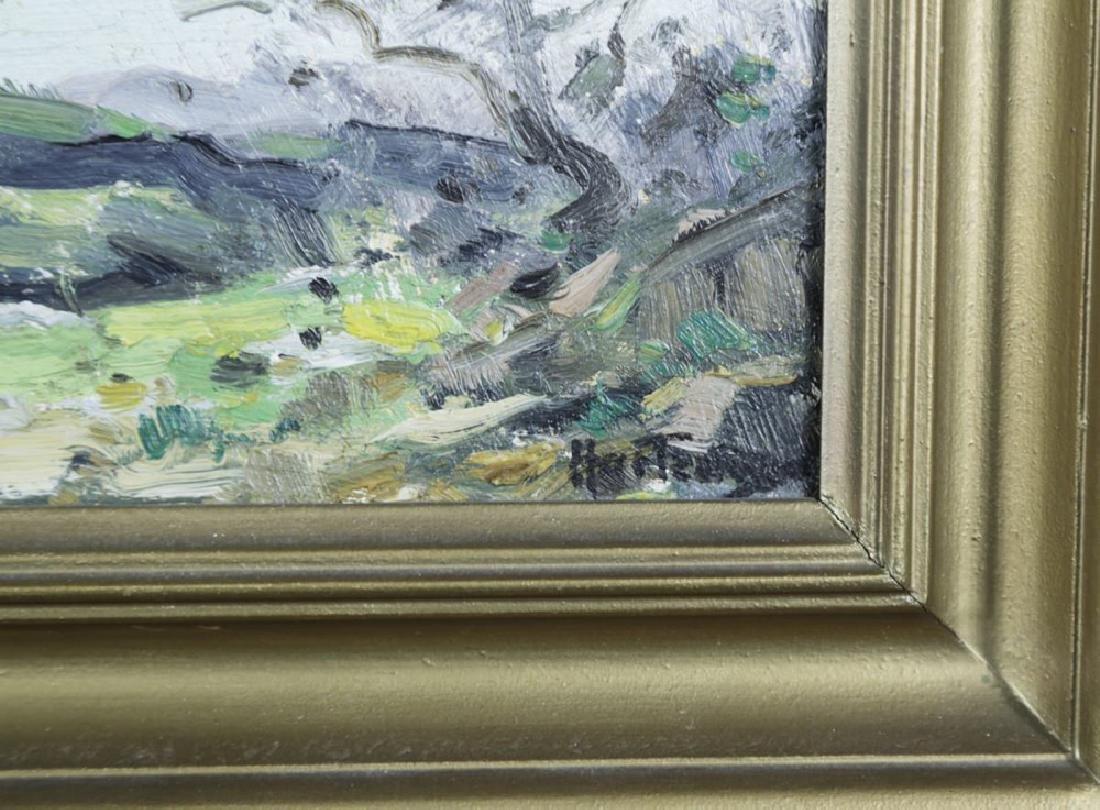20thc. American School, Landscape Over an Open Field - 4