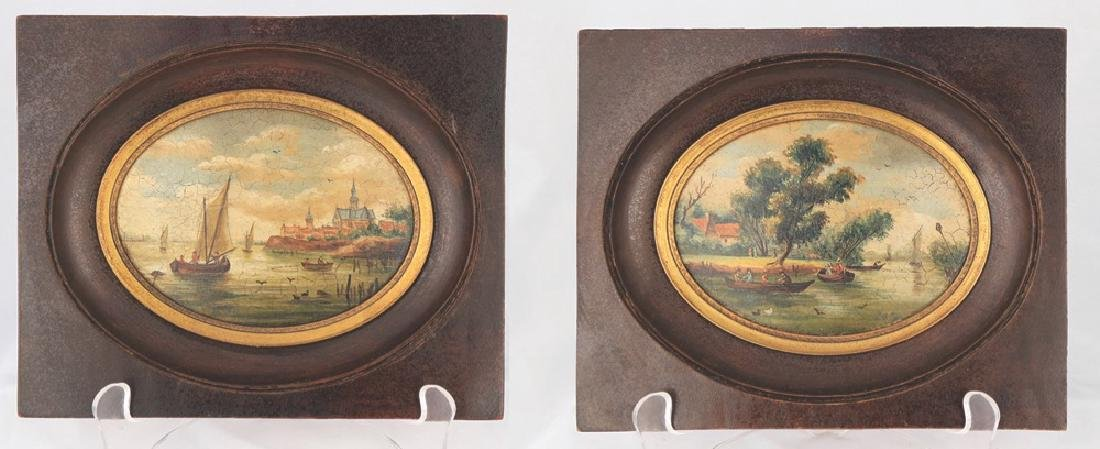 A Pair of Miniature English or Continental Paintings