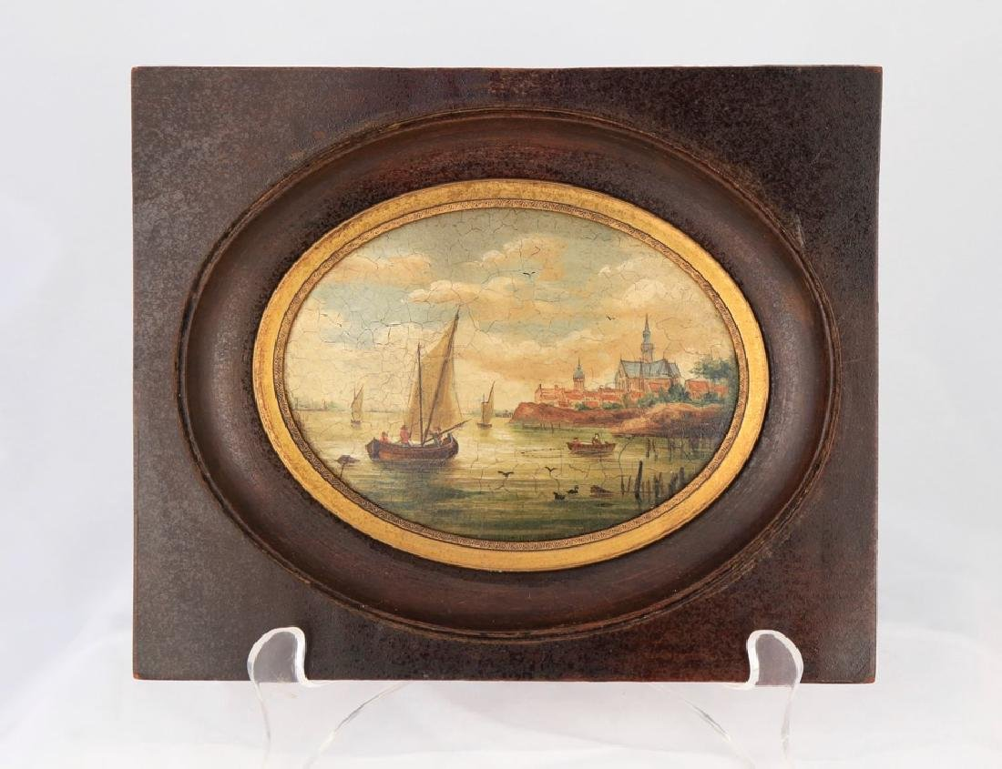 A Pair of Miniature English or Continental Paintings - 2