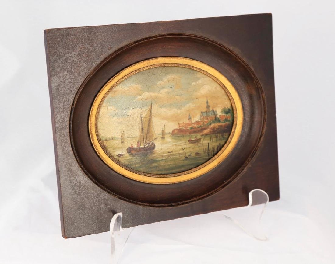 A Pair of Miniature English or Continental Paintings - 3