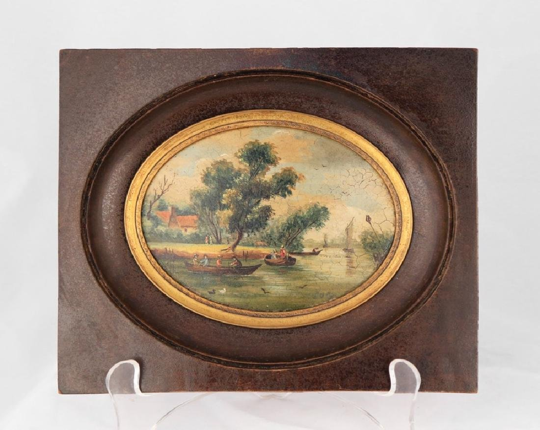 A Pair of Miniature English or Continental Paintings - 6