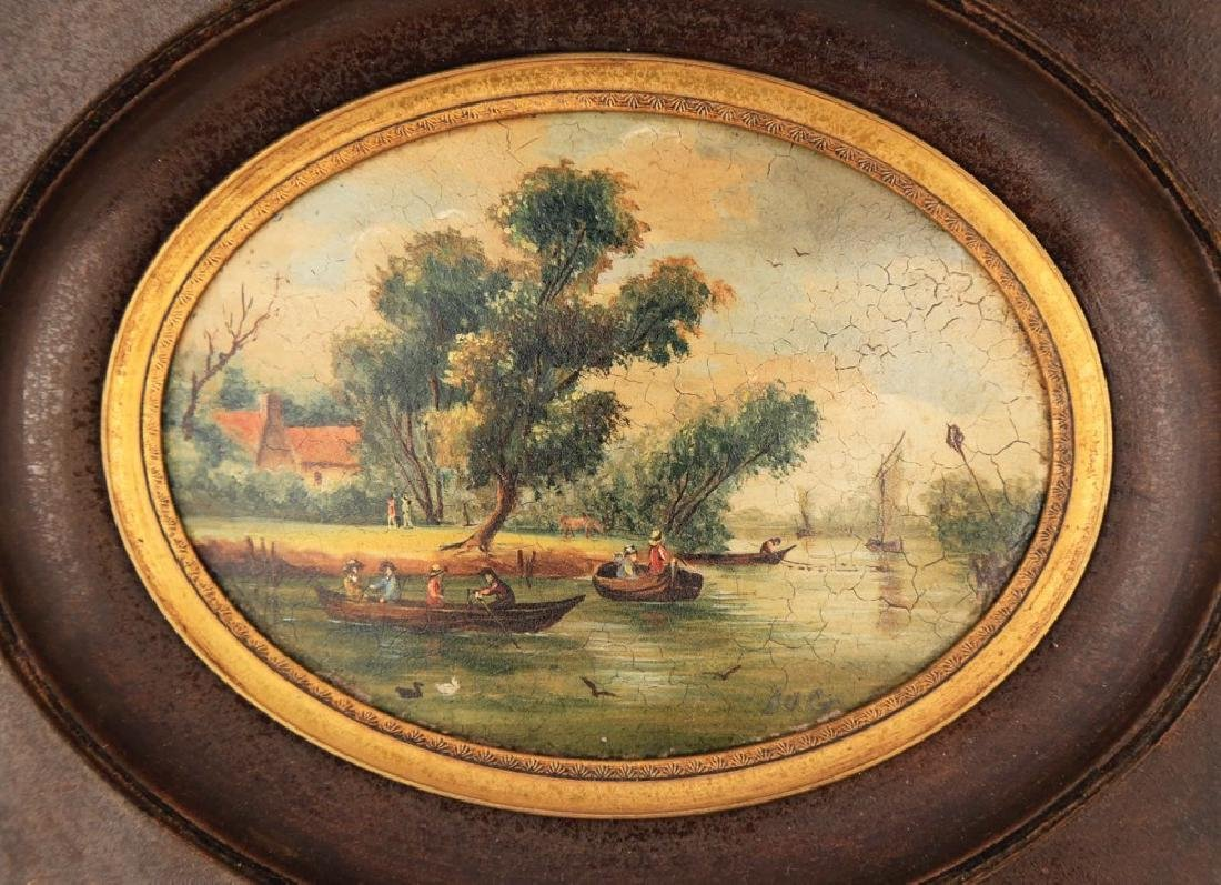 A Pair of Miniature English or Continental Paintings - 7