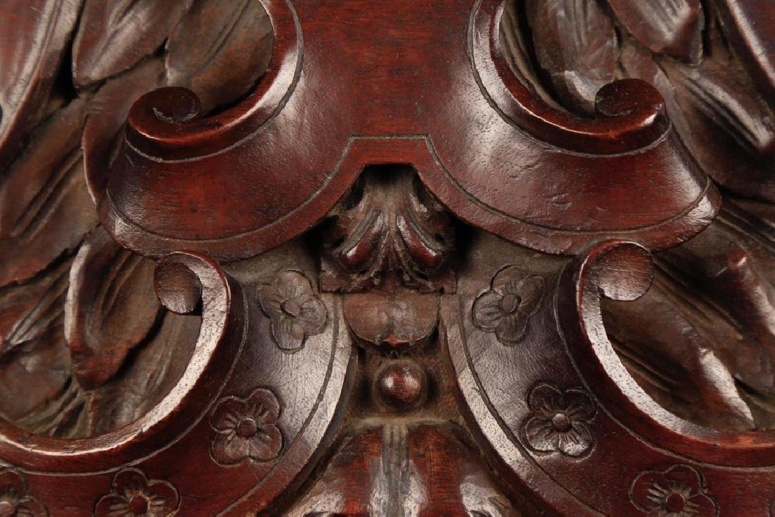 A French or Italian Carved Walnut Transom, 19th c. - 4