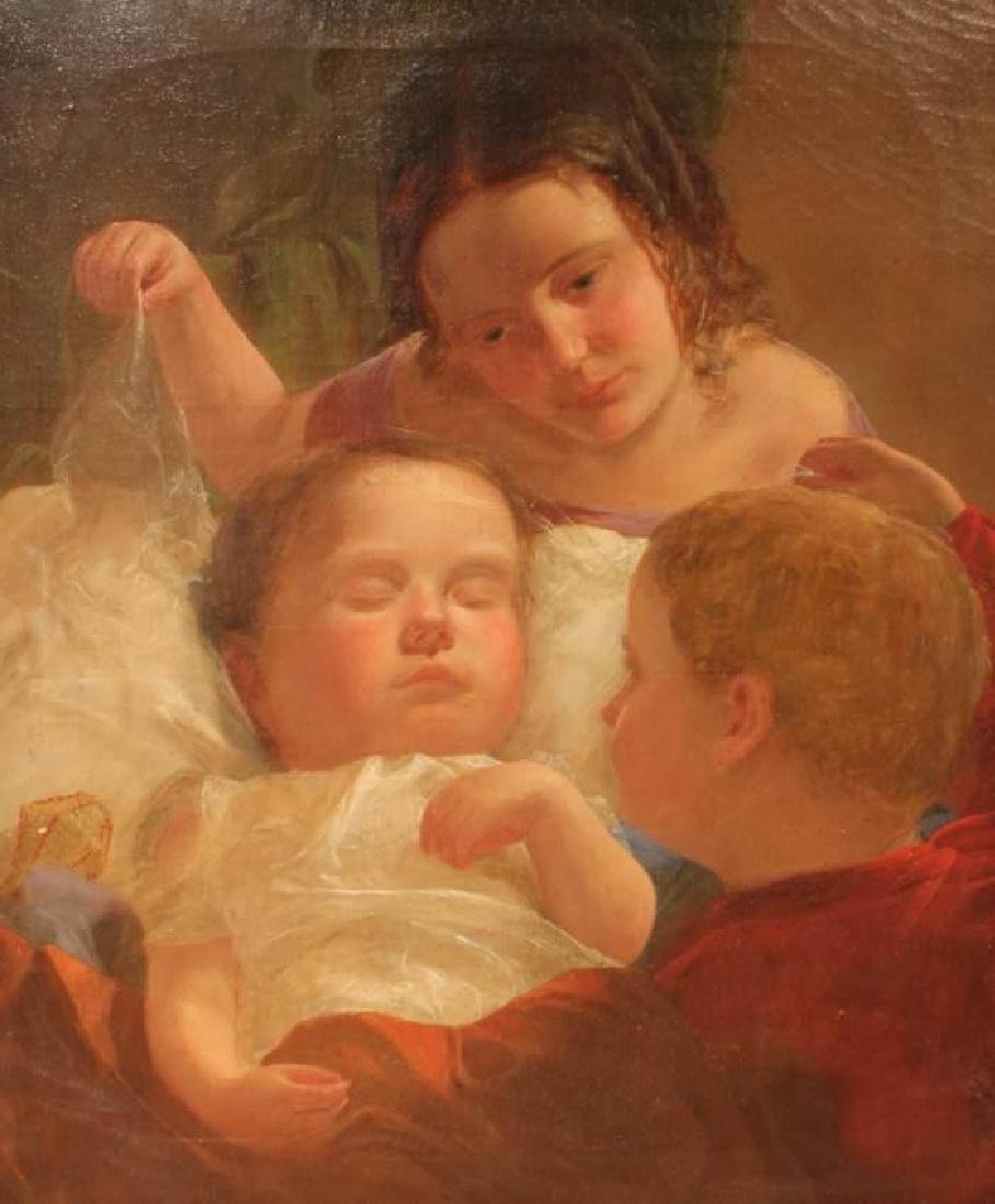 C.T. Weber (American 19th c.) The Sleeping Baby