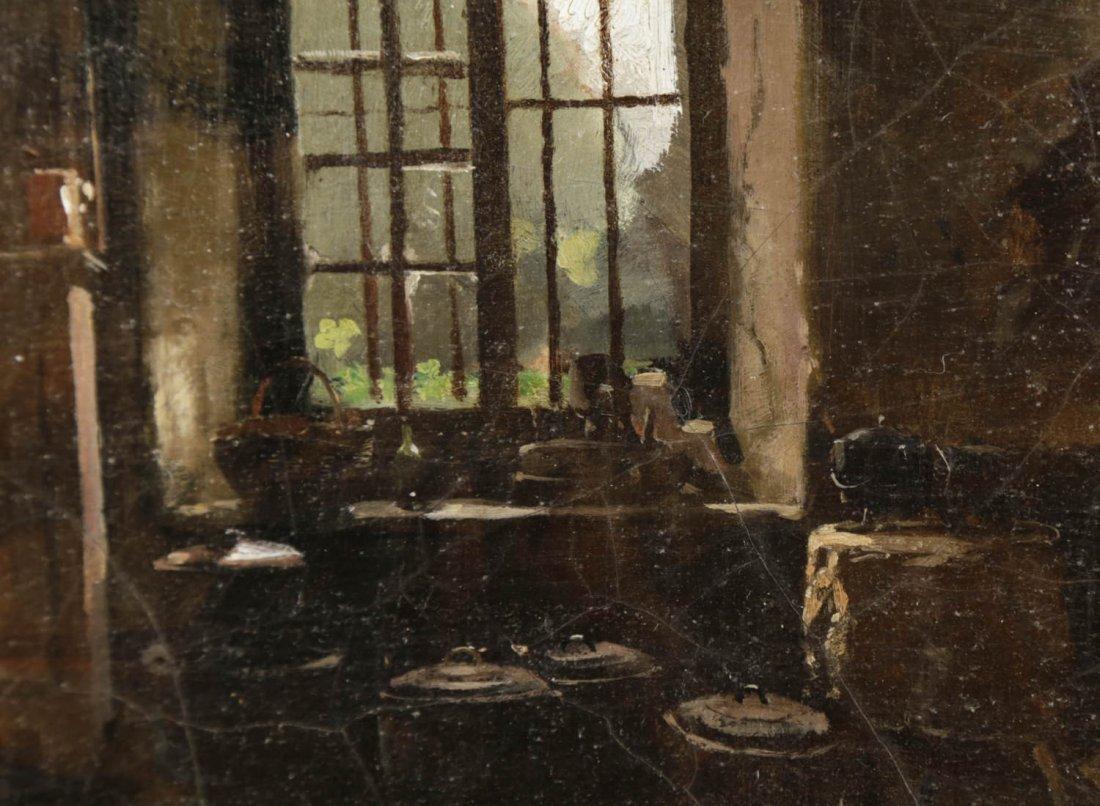 Kitchen Interior with View to a Garden, 19th Century - 2