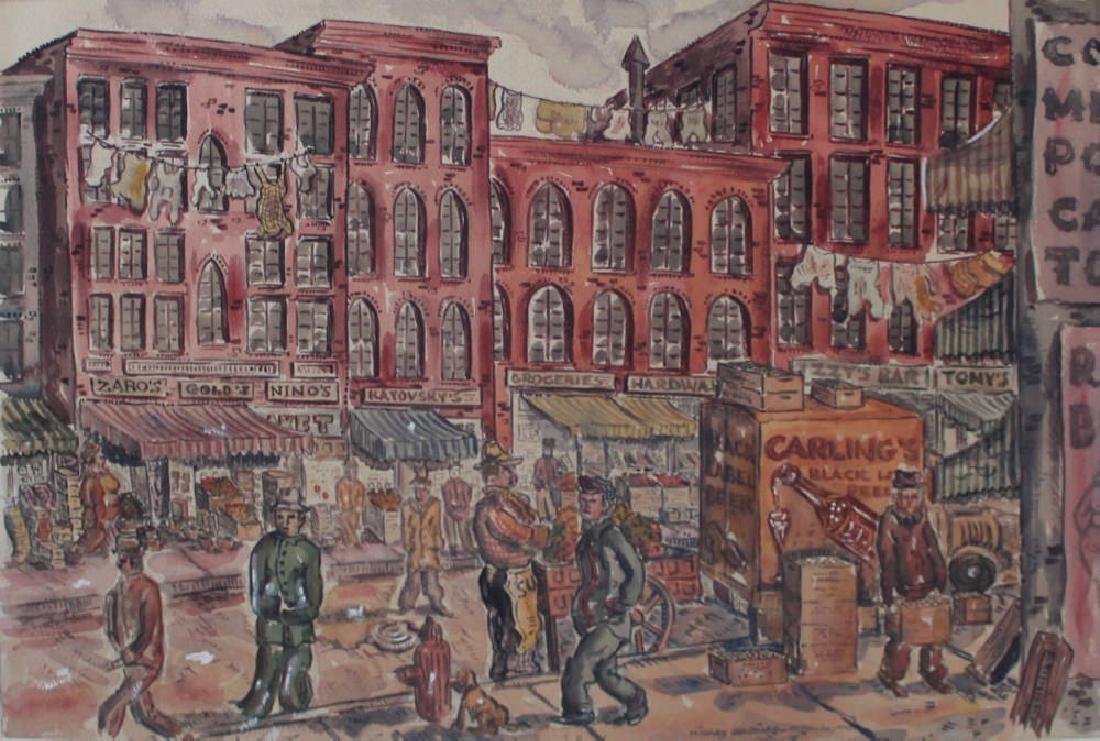 Milford Goldfarb - Busy New York Street Scene, 1943 - 2