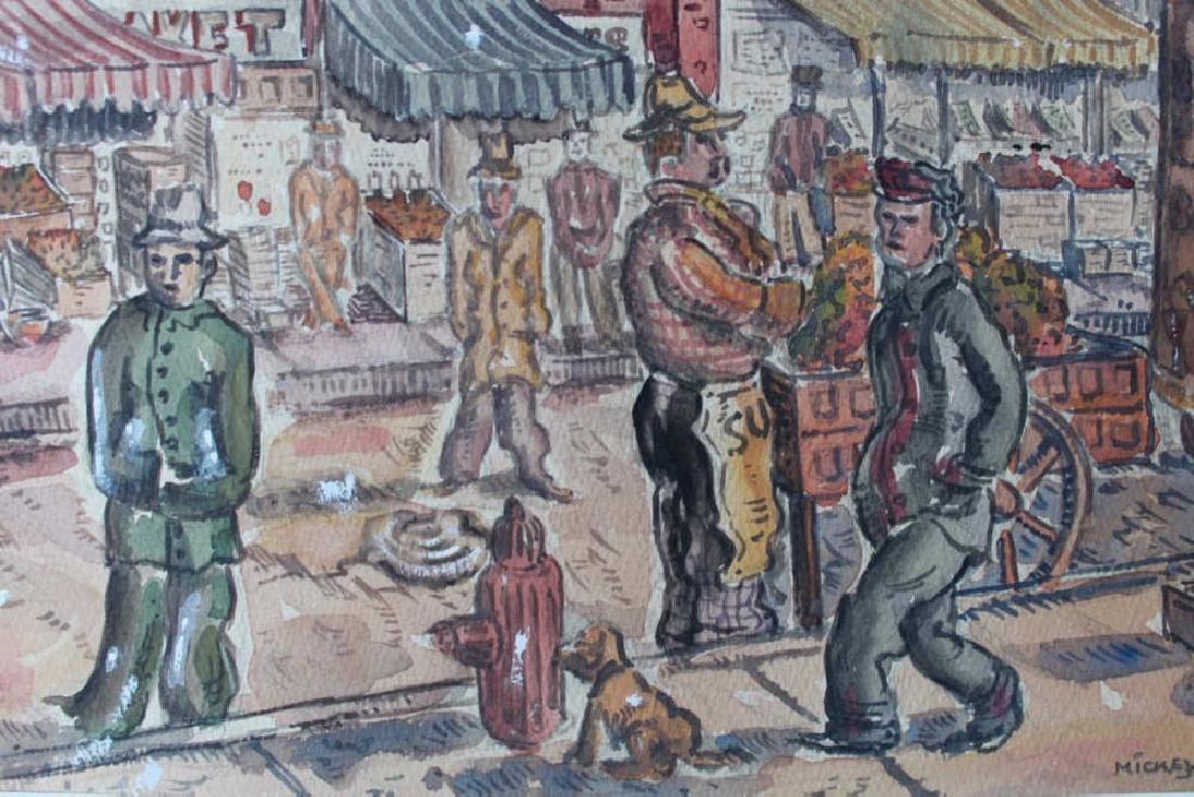 Milford Goldfarb - Busy New York Street Scene, 1943 - 7