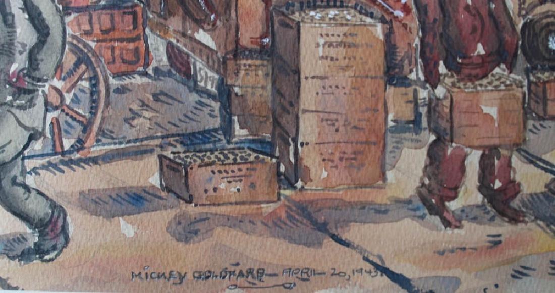 Milford Goldfarb - Busy New York Street Scene, 1943 - 8