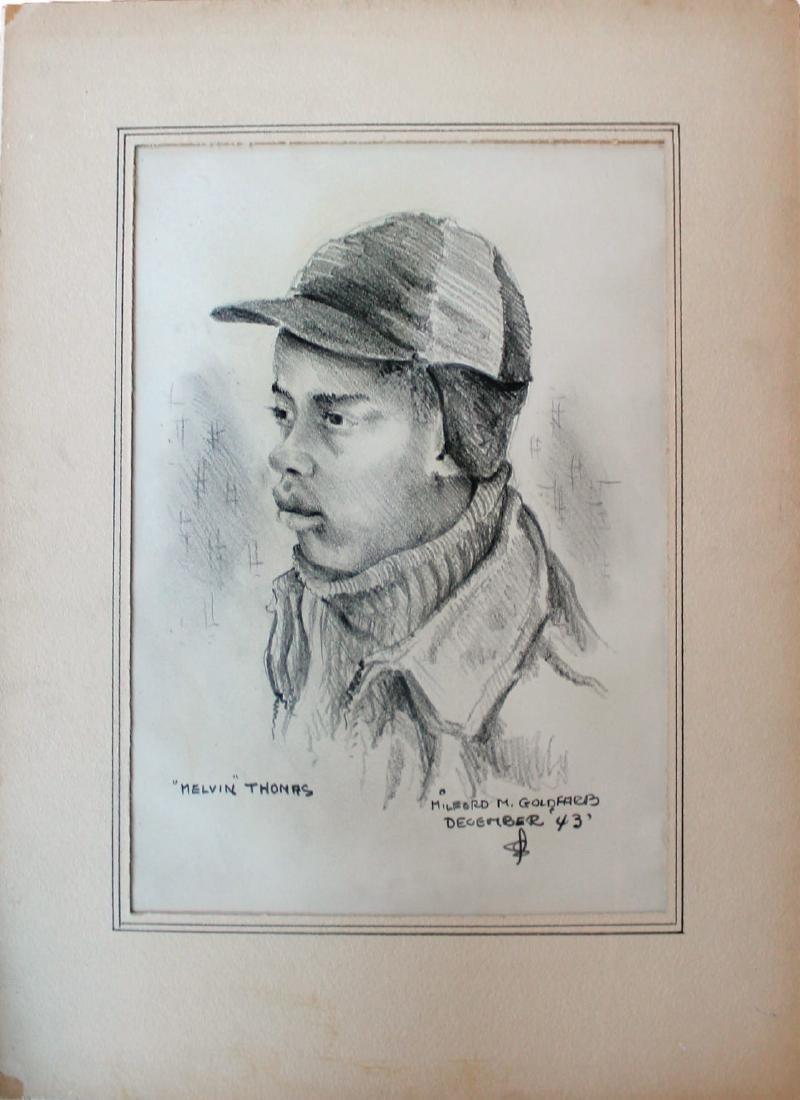 Milford Goldfarb - Lot of 7 Portrait Drawings - 2