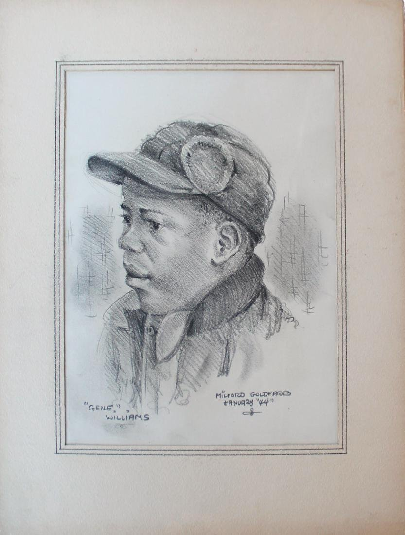 Milford Goldfarb - Lot of 7 Portrait Drawings - 3
