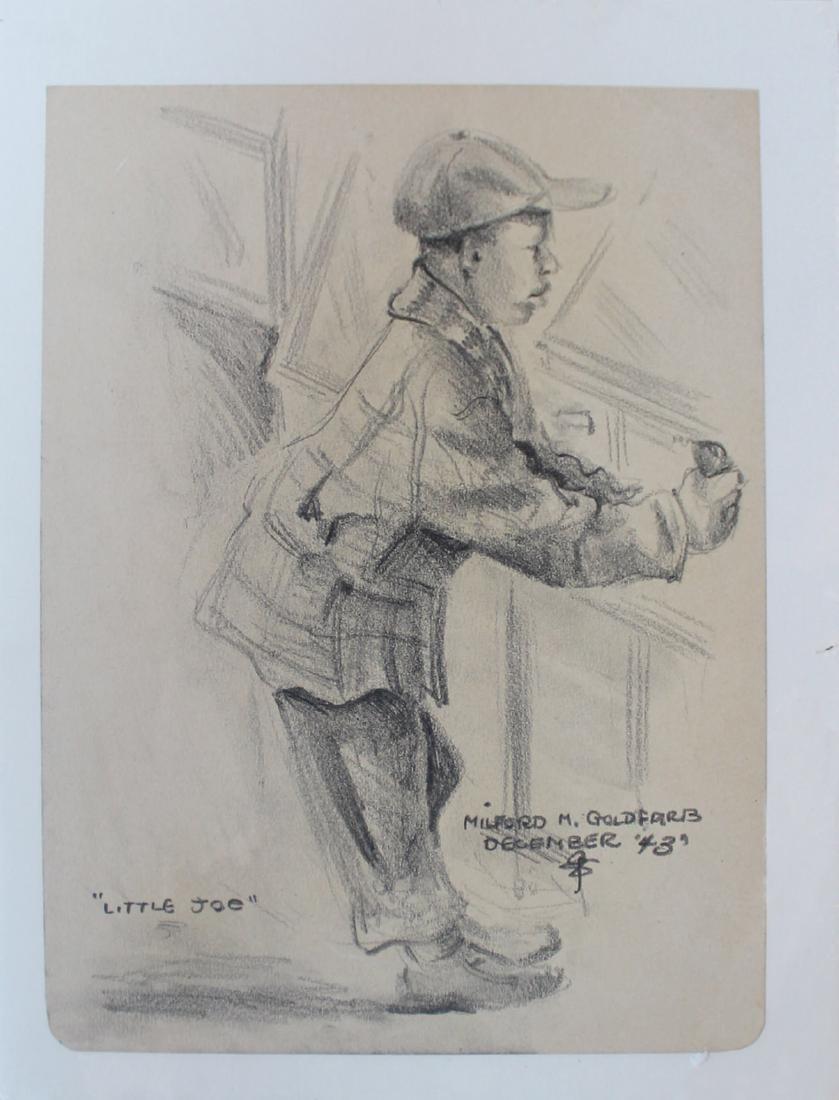 Milford Goldfarb - Lot of 7 Portrait Drawings - 4
