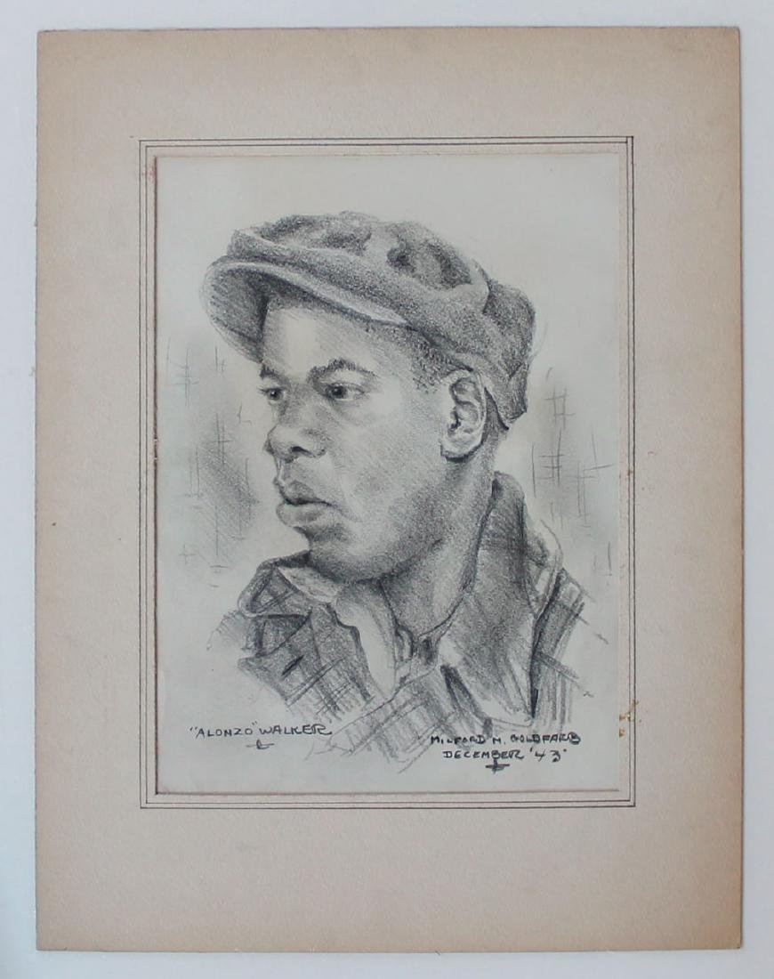 Milford Goldfarb - Lot of 7 Portrait Drawings - 6
