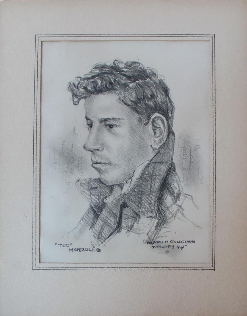 Milford Goldfarb - Lot of 7 Portrait Drawings - 7