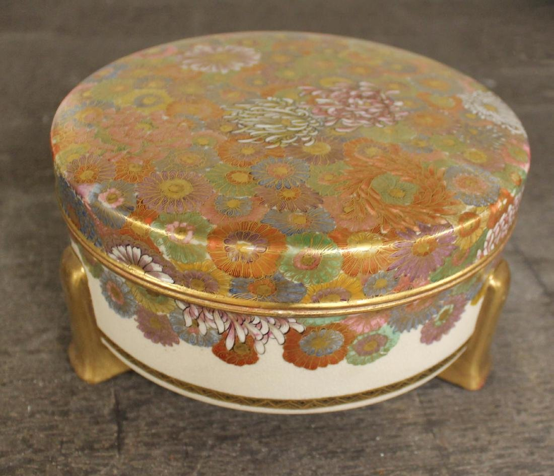 A Satsuma Covered Box, 1900