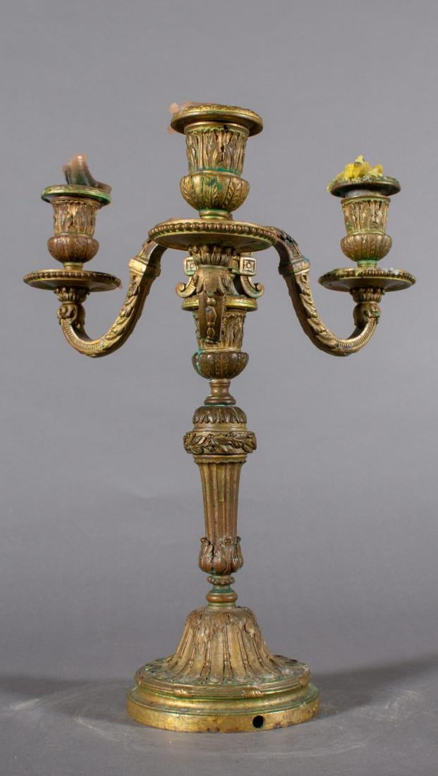 Pair of Bronze 19th Century French three light - 3