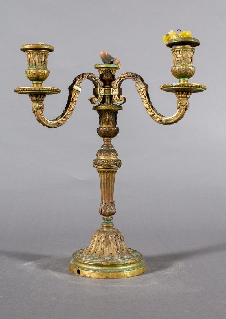 Pair of Bronze 19th Century French three light - 4