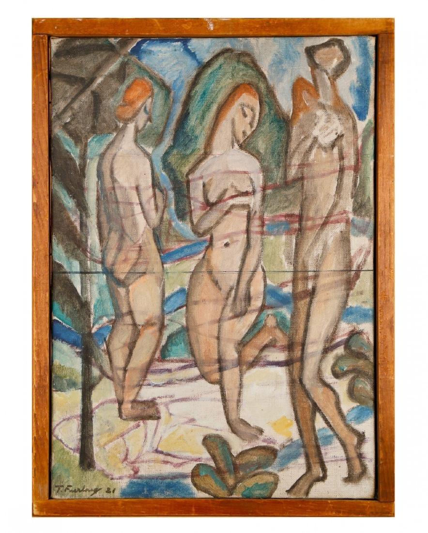 Thomas Furlong (American, 1886-1952) Three Nudes, 1921