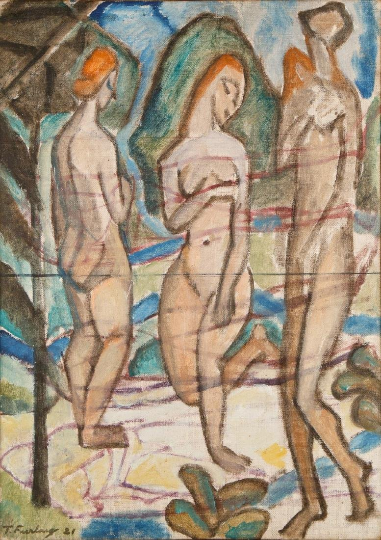 Thomas Furlong (American, 1886-1952) Three Nudes, 1921 - 2