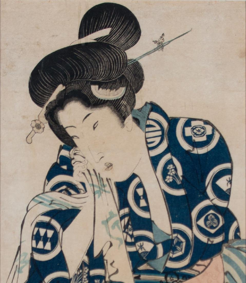 Two Japanese Woodblock Prints By Kunisada and Yeische - 9
