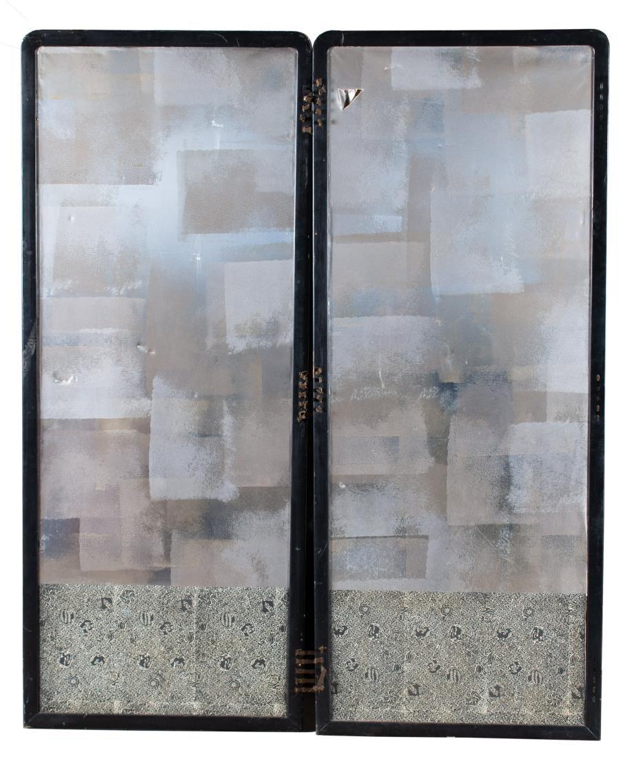 Two Panel Screen, 19th Century Japanese Silk - 8