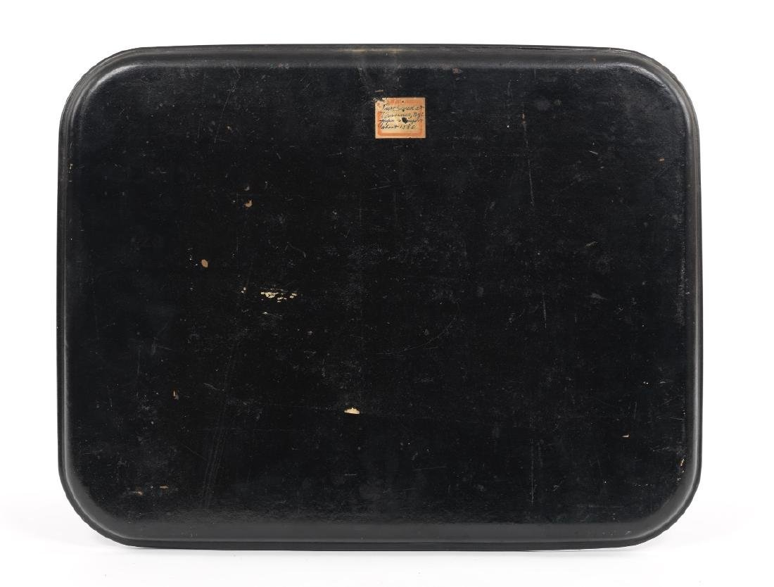 Japanese Lacquered Tray Depicting a Warrior Punishing - 2