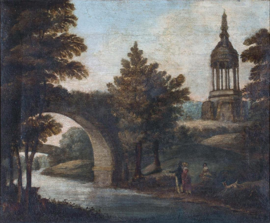 Figures in a Landscape, 18th/19th Century Continental - 2