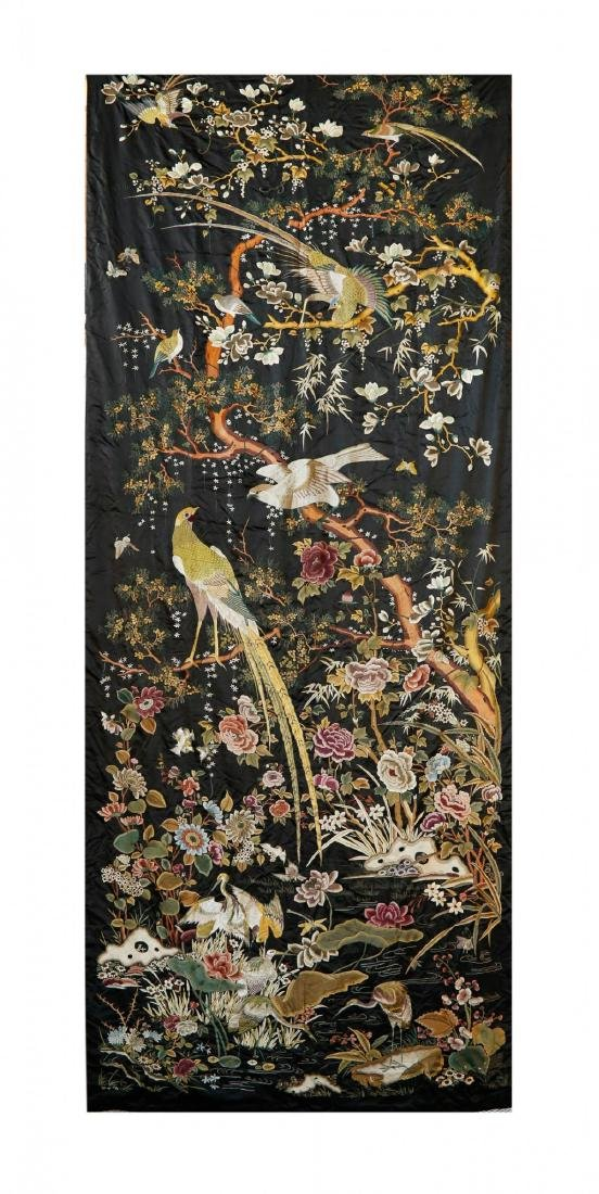 Rare Monumental 19th Century Chinese Embroidery