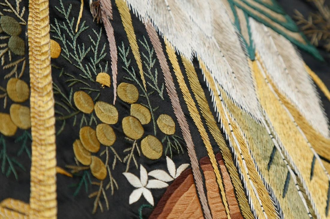 Rare Monumental 19th Century Chinese Embroidery - 9