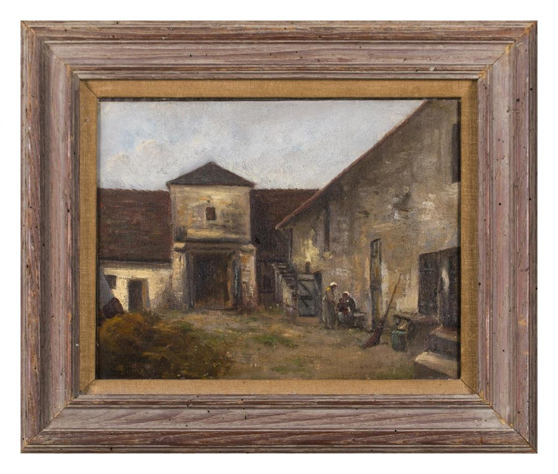 19th Century European Courtyard Scene