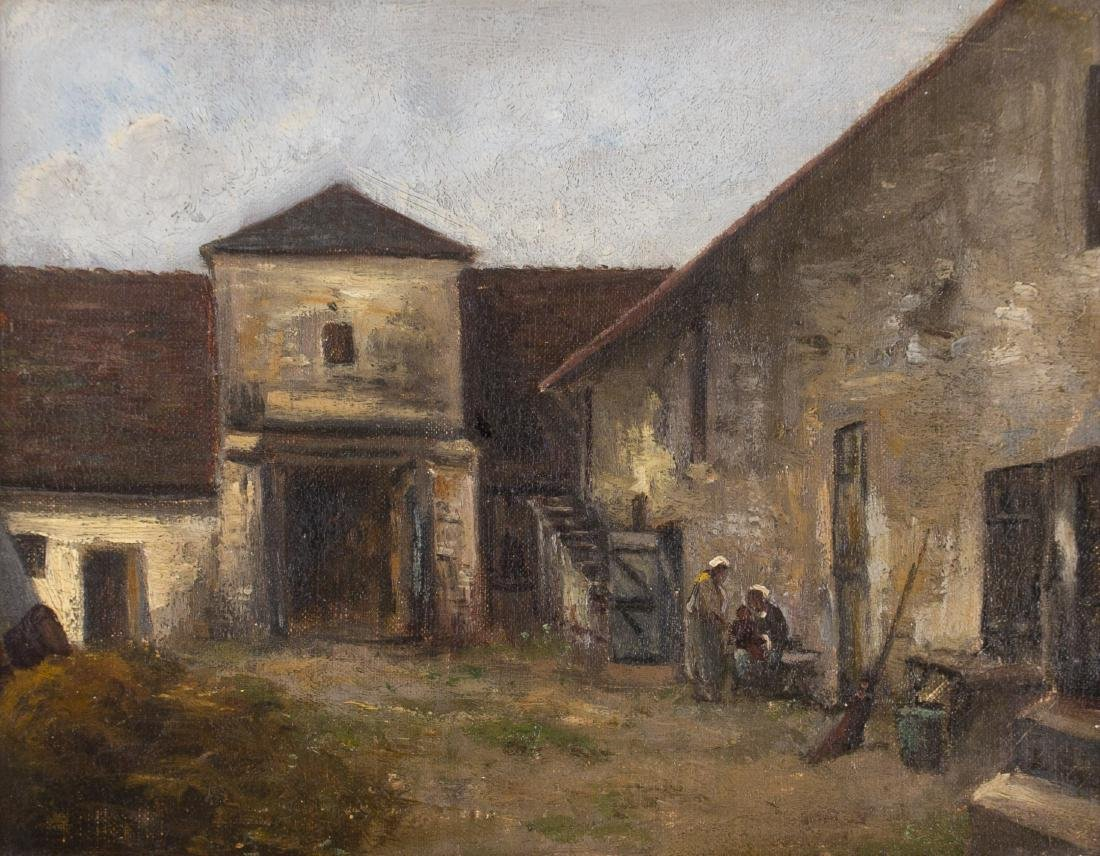 19th Century European Courtyard Scene - 2