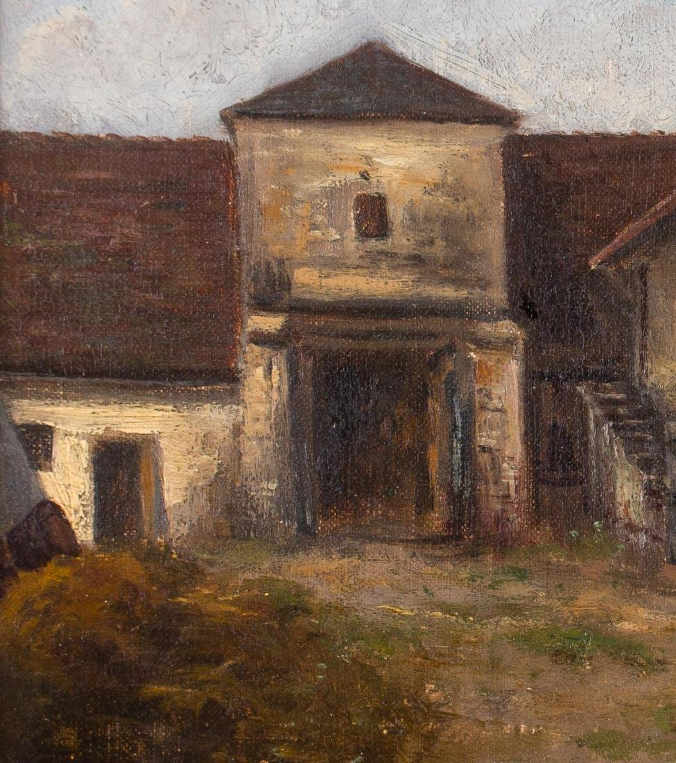 19th Century European Courtyard Scene - 3