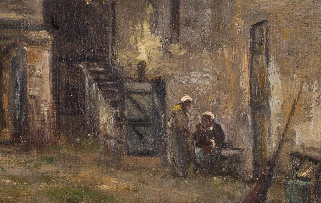 19th Century European Courtyard Scene - 4