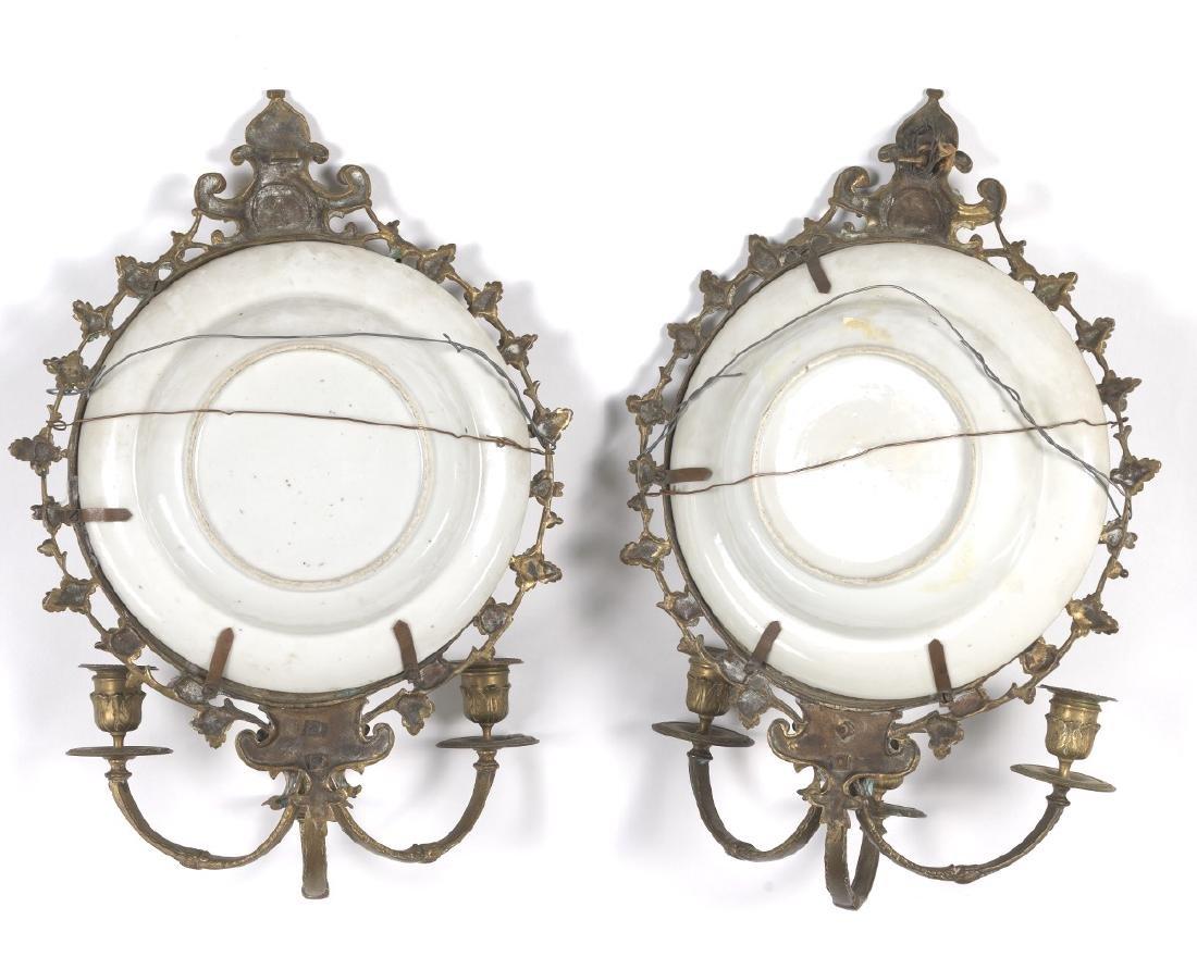Pair of Ormolu Mounted Famille Rose Platters Designed - 4