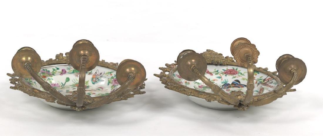 Pair of Ormolu Mounted Famille Rose Platters Designed - 5